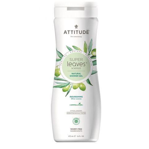 Přírodní tělové mýdlo s detoxikačním účinkem Olivové listy Attitude Super leaves 473ml