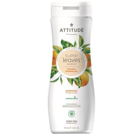 Přírodní tělové mýdlo s detoxikačním účinkem Pomerančové listy Attitude Super leaves 473ml