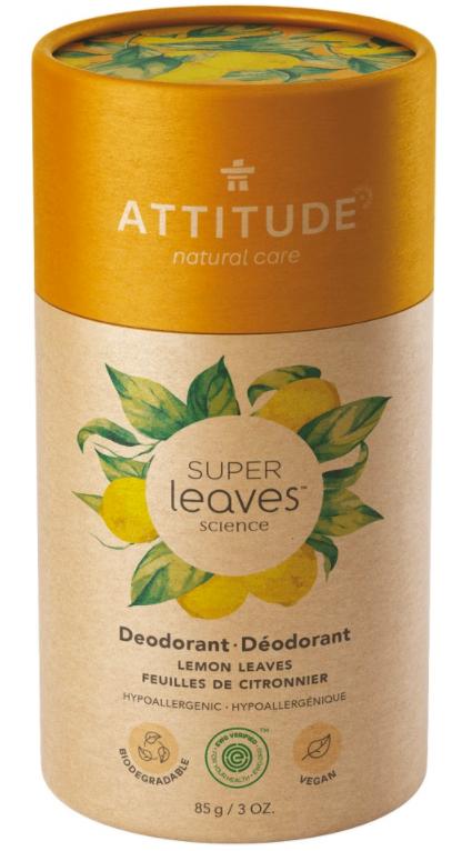 Přírodní tuhý deodorant Super leaves Citrusové listy Attitude 85g