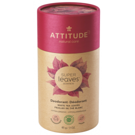 Přírodní tuhý deodorant Super leaves Listy bílého čaje Attitude 85g