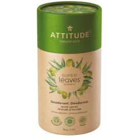 Přírodní tuhý deodorant Super leaves Olivové listy Attitude 85g