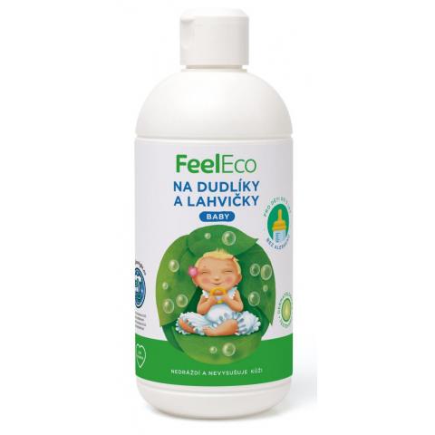 Prostředek na mytí dudlíků a lahviček Feel eco 500 ml