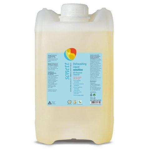 Tekutý prostředek na nádobí a univerzální čistič Sensitive Sonett 10 L