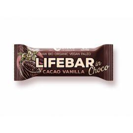 Proteinová tyčinka Bio InChoco kakaové boby s vanilkou Lifebar 40g