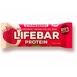 Proteinová tyčinka Bio jahodová Lifebar 47g