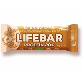 Proteinová tyčinka Bio Vanilla nuts Lifebar 47g