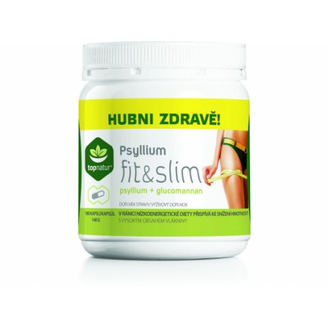 Psyllium fit and slim Topnatur 180 kapslí