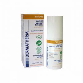 Bio S.O.S. gel k ošetření podrážděné pokožky obličeje a těla , pro citlivou pokožku Purcare Dermatherm 50ml