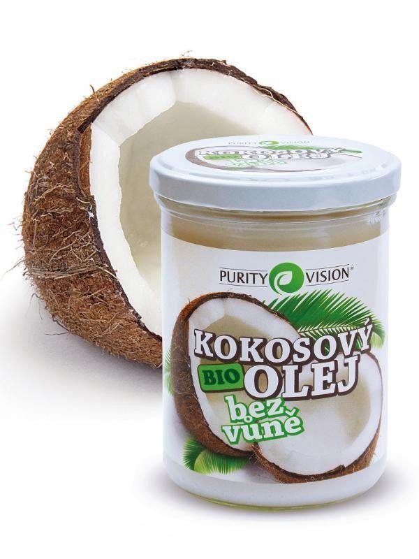 Purity Vision Kokosový olej BIO bez vůně 400 ml
