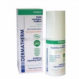 Bio zmatňující fluid na obličej, pro smíšenou a mastnou citlivou pleť Purmat Dermatherm 50ml