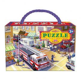 Puzzle Hasičské auto 20 dílků Eeboo
