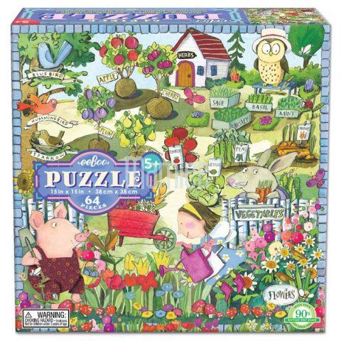 Puzzle Zahrada 64 dílků Eeboo