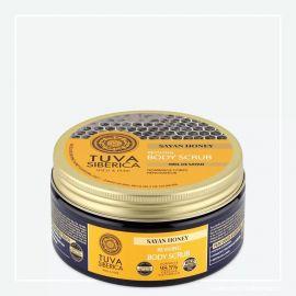 Regenerujíci tělový peeling – Sajanský med Tuva Siberica 300ml