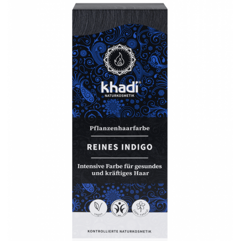 Rostlinná barva na vlasy Čisté indigo Khadi 100g