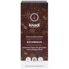 Rostlinná barva na vlasy Popelavě hnědá Khadi 100g