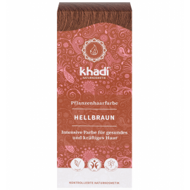 Rostlinná barva na vlasy Světle hnědá Khadi  100g