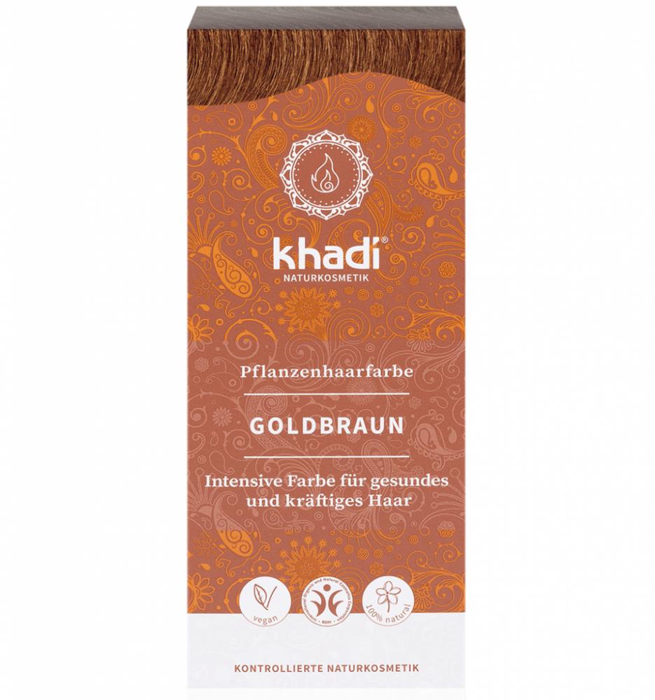 Rostlinná barva na vlasy Zlatá hnědá Khadi 100g