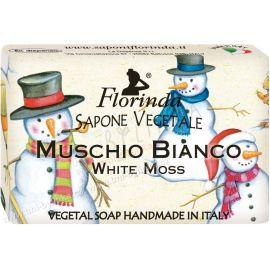 Rostlinné mýdlo Bílý mech Vánoční motiv Florinda 50 g