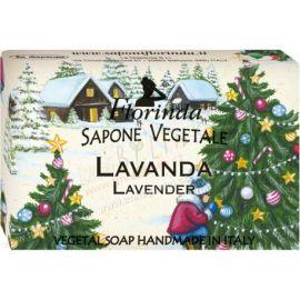 Rostlinné mýdlo Levandule Vánoční motiv Florinda 50 g