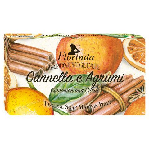 Rostlinné mýdlo Skořice- citrus Florinda 200 g