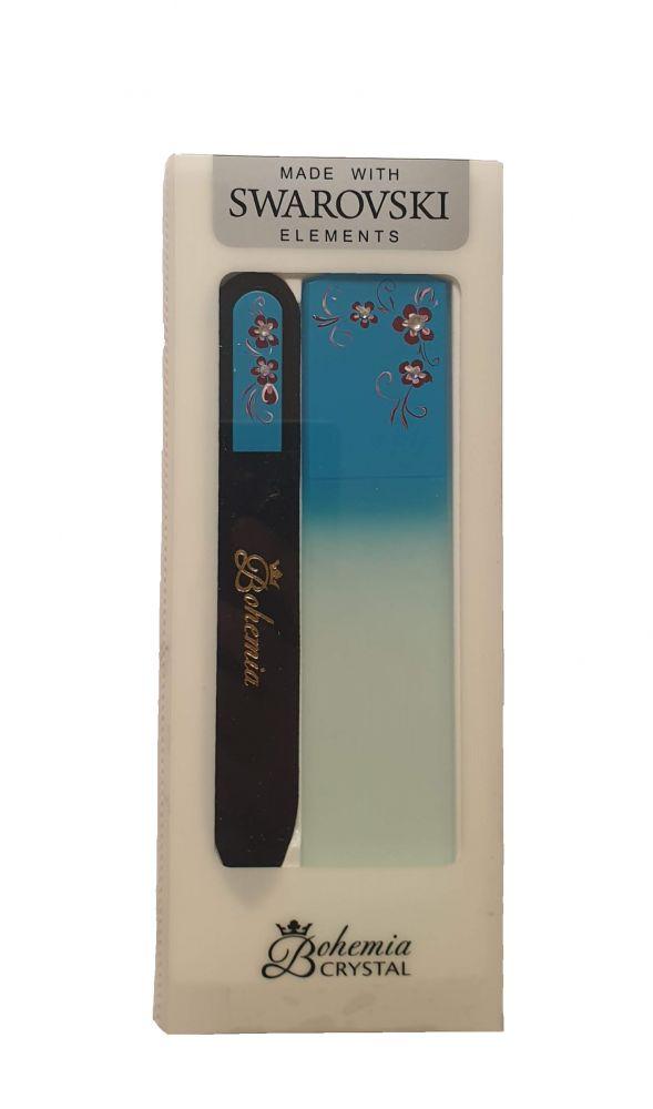 Sada Modrá Skleněný pilník na nehty + škrabka na paty