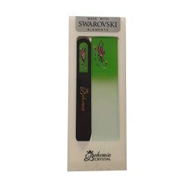 Sada Zelená Motýlek Skleněný pilník na nehty + škrabka na paty
