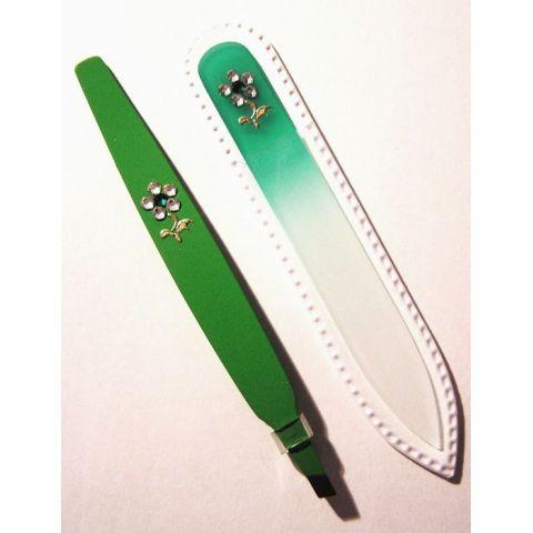 Sada Zelená Skleněný pilník + pinzeta