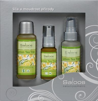 Saloos Lemon Tea Tree Hydrofilní odličovací olej +50 ml +Květinová pleťová voda 50 ml+Bio regenerační obličejový olej 20 ml dárková sada