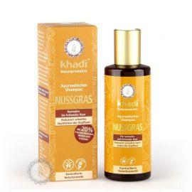 Šampón OŘECHOVÁ TRÁVA pro normální a mastné vlasy  Khadi  210ml