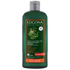 Šampon oživující pro červ. hnědé a barvené vlasy Henna Logona 250ml