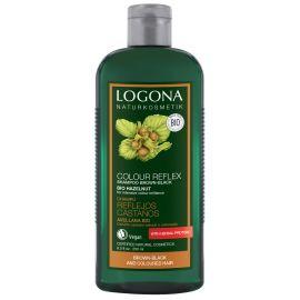 Šampon oživující pro hnědo-černé a barvené vlasy Ořech Logona 250ml