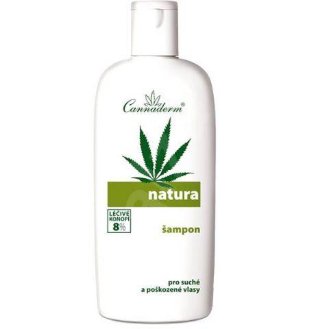 Šampon pro suché poškozené vlasy NATURA  Cannaderm 200 ml