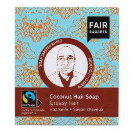 Šampon tuhý na mytí vlasů – kokosový pro mastné vlasy Fair Squared 2x80 g