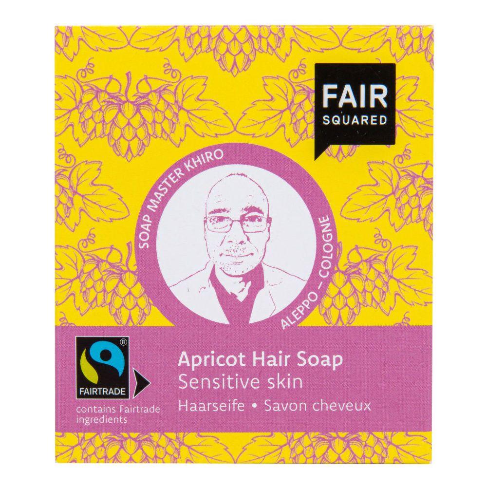 Šampon tuhý na mytí vlasů – meruňkový pro citlivou pokožku hlavy Fair Squared 2x80 g