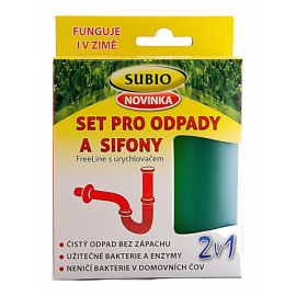 Set pro odpady a sifony s urychlovačem Subio 50g+80ml