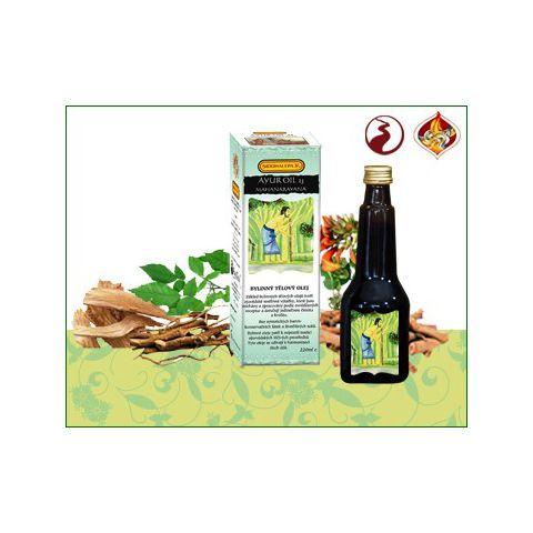 Oil 23 Mahanarayana - regenerace tkáně, klouby, revma, vysoký tlak Ayur Siddhalepa  220 ml