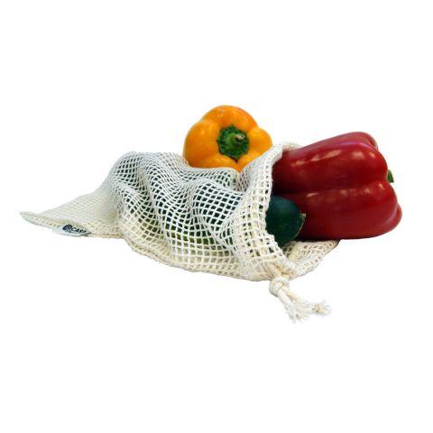 Síťový sáček z biobavlny na ovoce a zeleninu – malý Tierra Verde