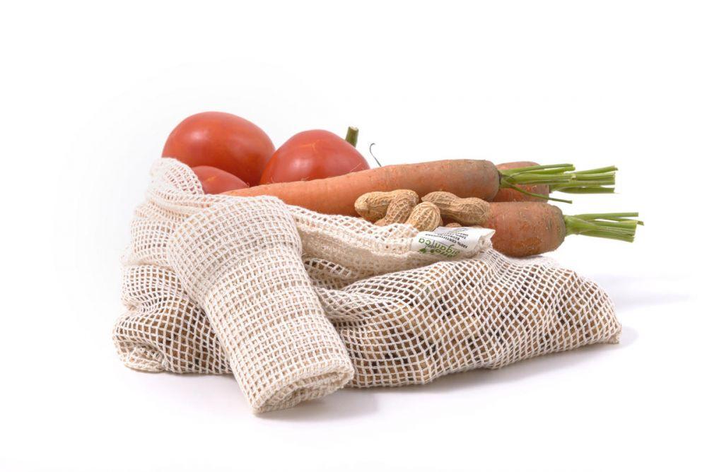 Tierra Verde Síťový sáček z biobavlny na ovoce a zeleninu – střední