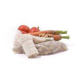 Síťový sáček z biobavlny na ovoce a zeleninu – střední Yellow & Blue
