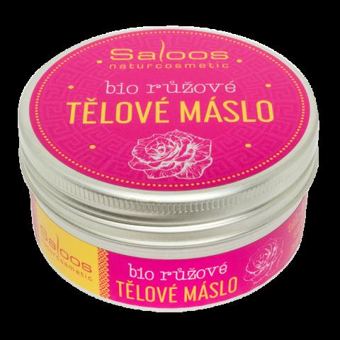 Šlehané bio růžové máslo Saloos 75 ml
