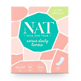 Slipové vložky secure daily NAT nice & true 60 ks