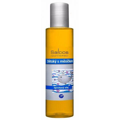 Sprchový Dětský olej s měsíčkem Saloos 125ml