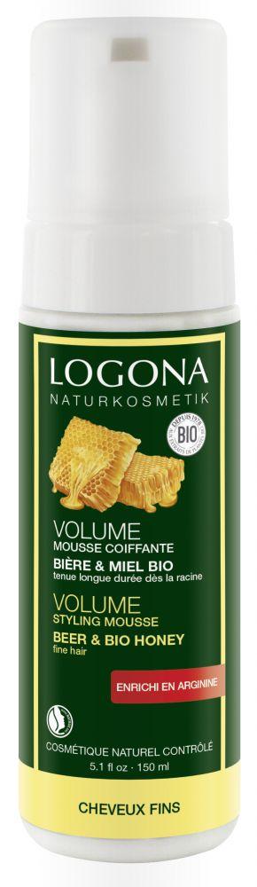 Styling pěna na objem vlasů Pivo & Med Logona 150ml