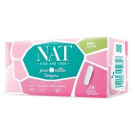 Tampóny z organické bavlny - super NAT nice & true 16 ks