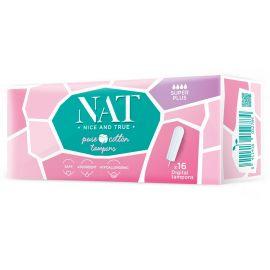 Tampóny z organické bavlny - super plus NAT nice & true 16 ks
