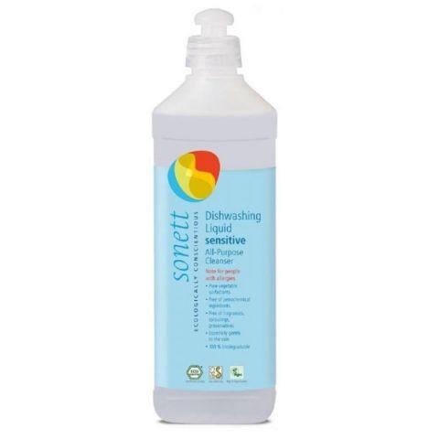 Tekutý prostředek na nádobí a univerzální čistič Sensitive Sonett 500 ml