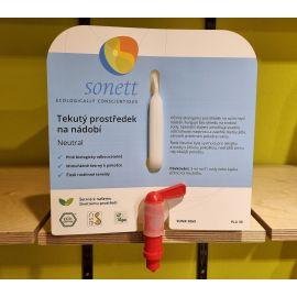 Tekutý prostředek na nádobí sensitiv Sonett 1L BEZOBAL