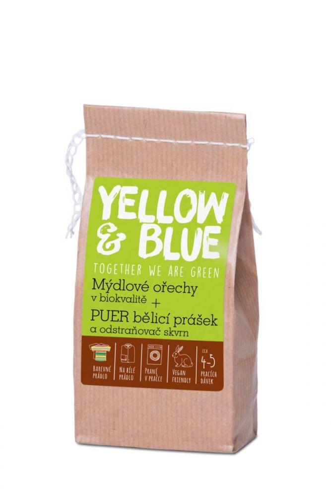 Yellow & BlueTestovací sada (ořechy,pytlíček,bělící prášek) 1ks