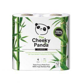 Toaletní papír Cheeky Panda  3-vrstvý, 200 útržků, 4 role