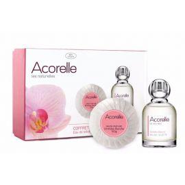 Toaletní voda (EDT) Sada Bílá orchidej + mýdlo Acorelle 50ml